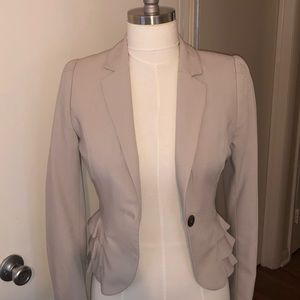 Grey One button Blazer H&M conscious collection
